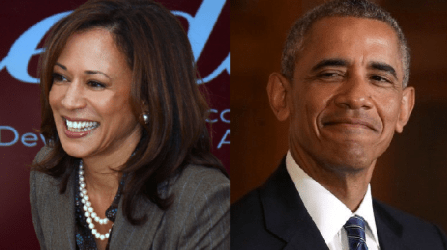 Kamala Harris and Barack Obama