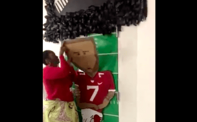 Teacher Alissa Perry taking down her Colin Kaepernick decoration for Black History Month after students, parents, and teachers reportedly claimed it was offensive.