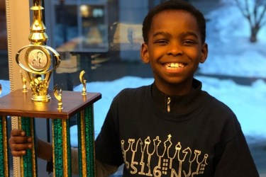 Third-grader Tanitoluwa Adewumi was crowned as a New York State Scholastic chess champion on March 10.