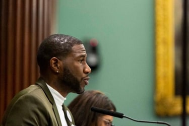 New York City Public Advocate Jumaane Williams after the vote yesterday.
