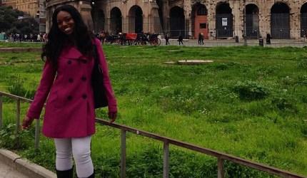 Tiarah Poyau in Rome.