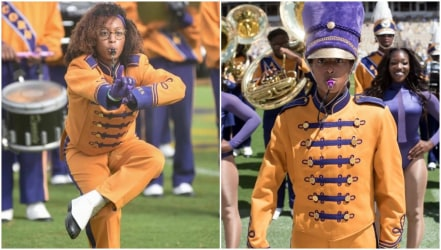Mar'Kaja Ramirez, the first female head drum major at Alcorn State University for the Sounds of Dyn-O-Mite band.