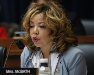 Rep. Lucy McBath (D-GA) participates in a House Education and Labor Committee Markup on the H.R. 582 Raise The Wage Act, in the Rayburn House Office Building on March 6, 2019 in Washington, DC.