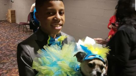 Darius Brown, 11, founder of Beaux and Paws