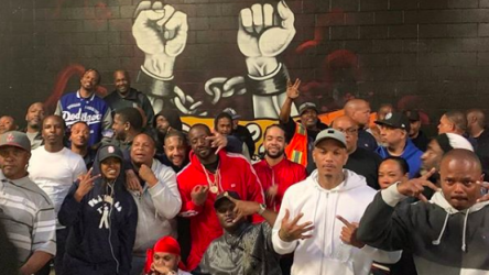 Members from Los Angeles Bloods and Crip meet for peace talks following Nipsey Hussle's death