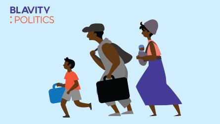 A Haitian migrant family