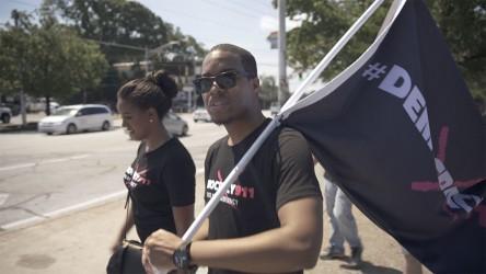 The author, Renaldo Pearson, starts his 600-mile walk to DC in Atlanta Aug. 6.