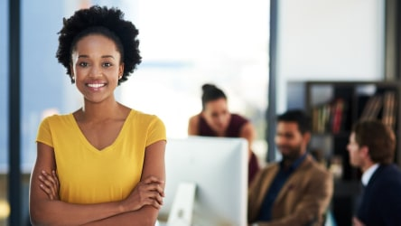 Young Black career woman