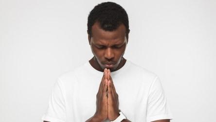 Man showing humility,
