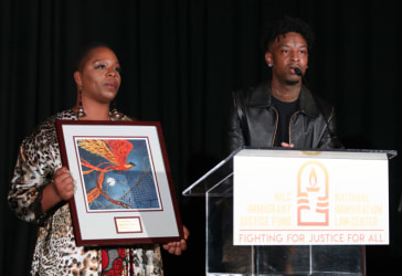 Patrisse Cullors and 21 Savage
