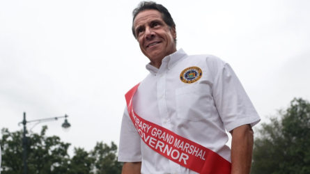 New York Gov. Andrew Cuomo walks in the annual West Indian Day Parade on September 2, 2019 in the Brooklyn borough of New York City.