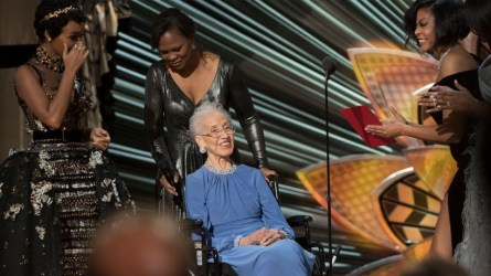 Katherine Johnson and the 'Hidden Figures' cast
