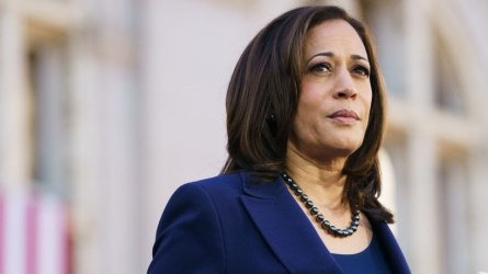 U.S. Senator Kamala Harris (D-CA) speaks to her supporters during her presidential campaign launch rally in Frank H. Ogawa Plaza on January 27, 2019.