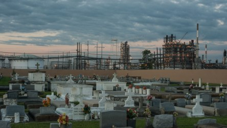 A Baton Rouge cemetery surrounded by chemical plants