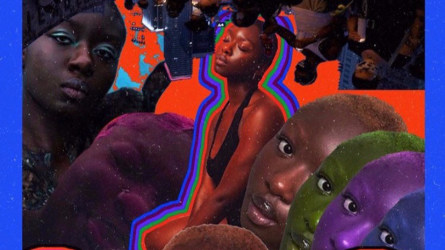 Artist Zhari Fisher honors Salau with a collage.