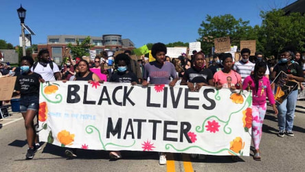 Shorewood, Wisconsin, Black Lives Matter protest.