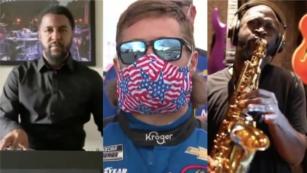 Pianist West Byrd, NASCAR driver and saxophonist Mike Phillips