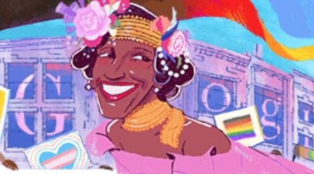 The Google Doodle for Marsha P. Johnson.
