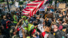 Pro-Police Protesters And BLM Demonstrators Clash At 'Back The Blue' Rally In Colorado