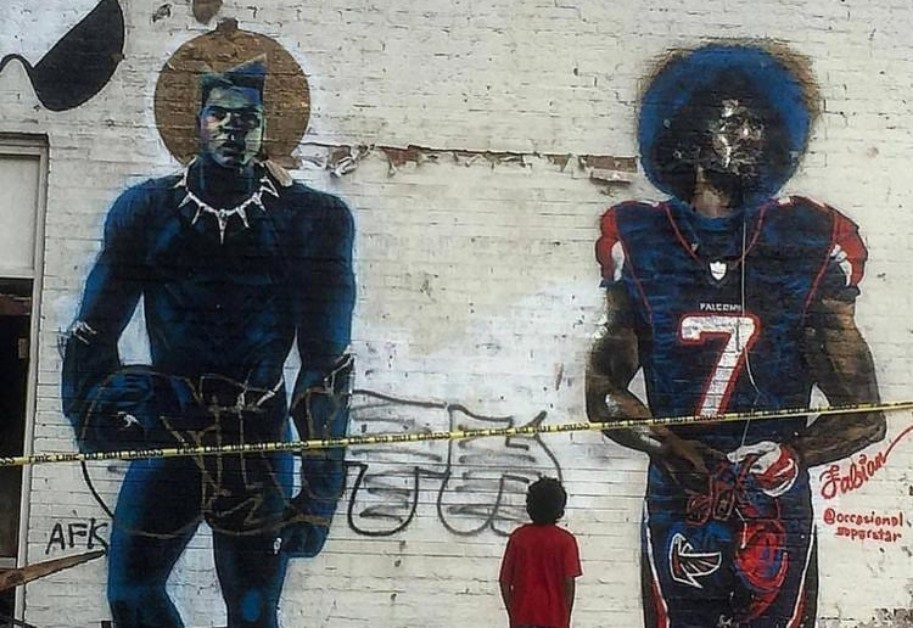 Atlanta Artists Painted Murals Of Colin Kaepernick All Over The City Instead Of Watching The Super Bowl
