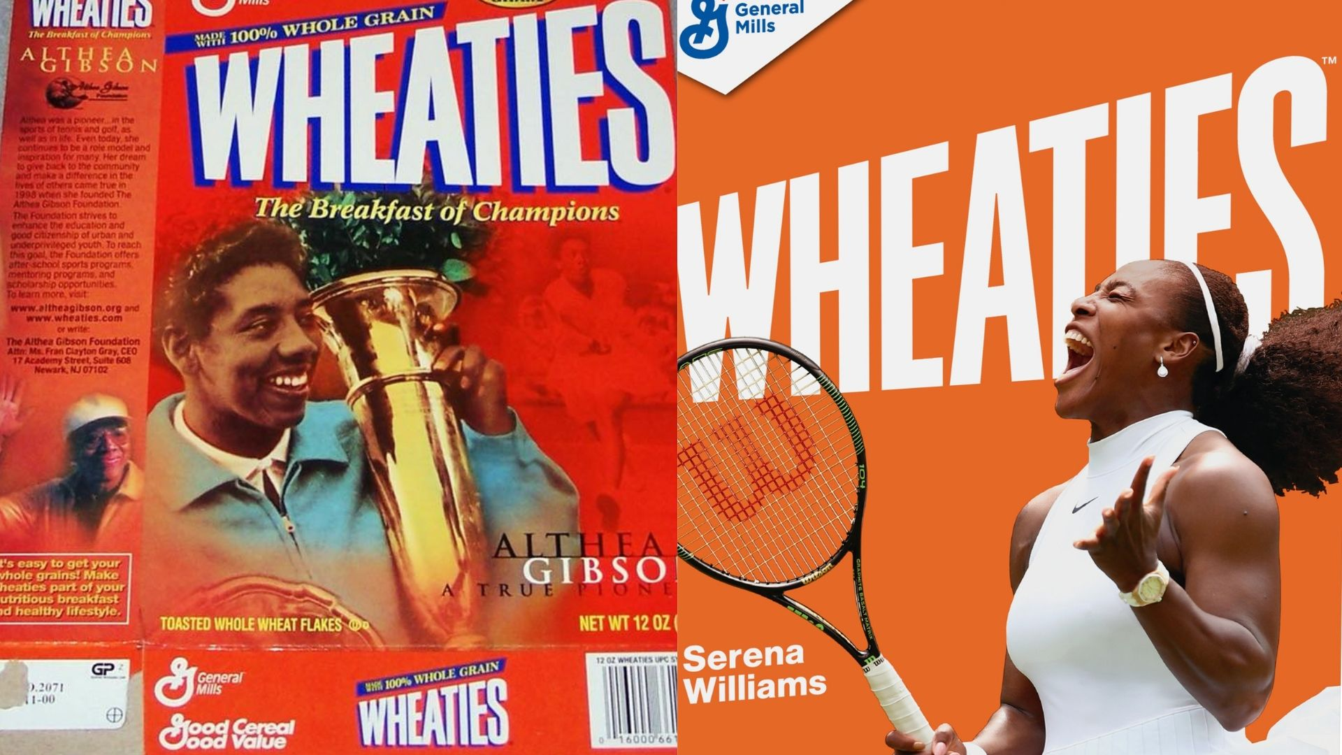 Serena Williams Follows In The Footsteps Of Althea Gibson As The Second Black Woman Tennis Player To Be Featured On A Wheaties Box