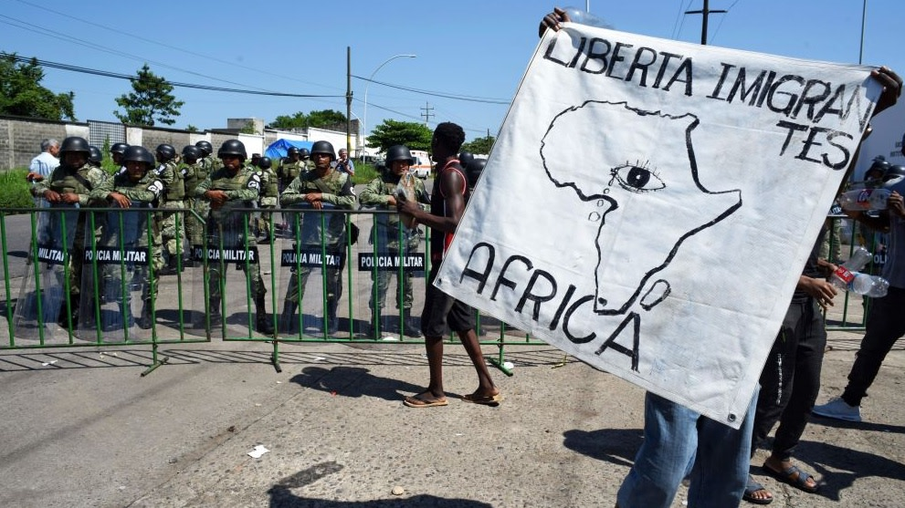 African Migrants Are Banding Together To Protest As Mexican Officials Continue To Deny Necessary Paperwork To Enter U.S.
