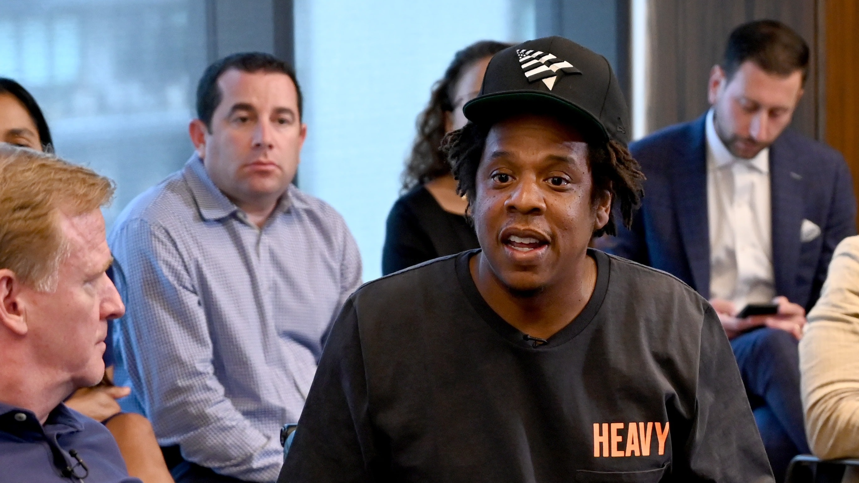 Jay-Z And NFL Reveal 'Inspire Change' Clothing Line And Concert Series With Meek Mill And Rapsody