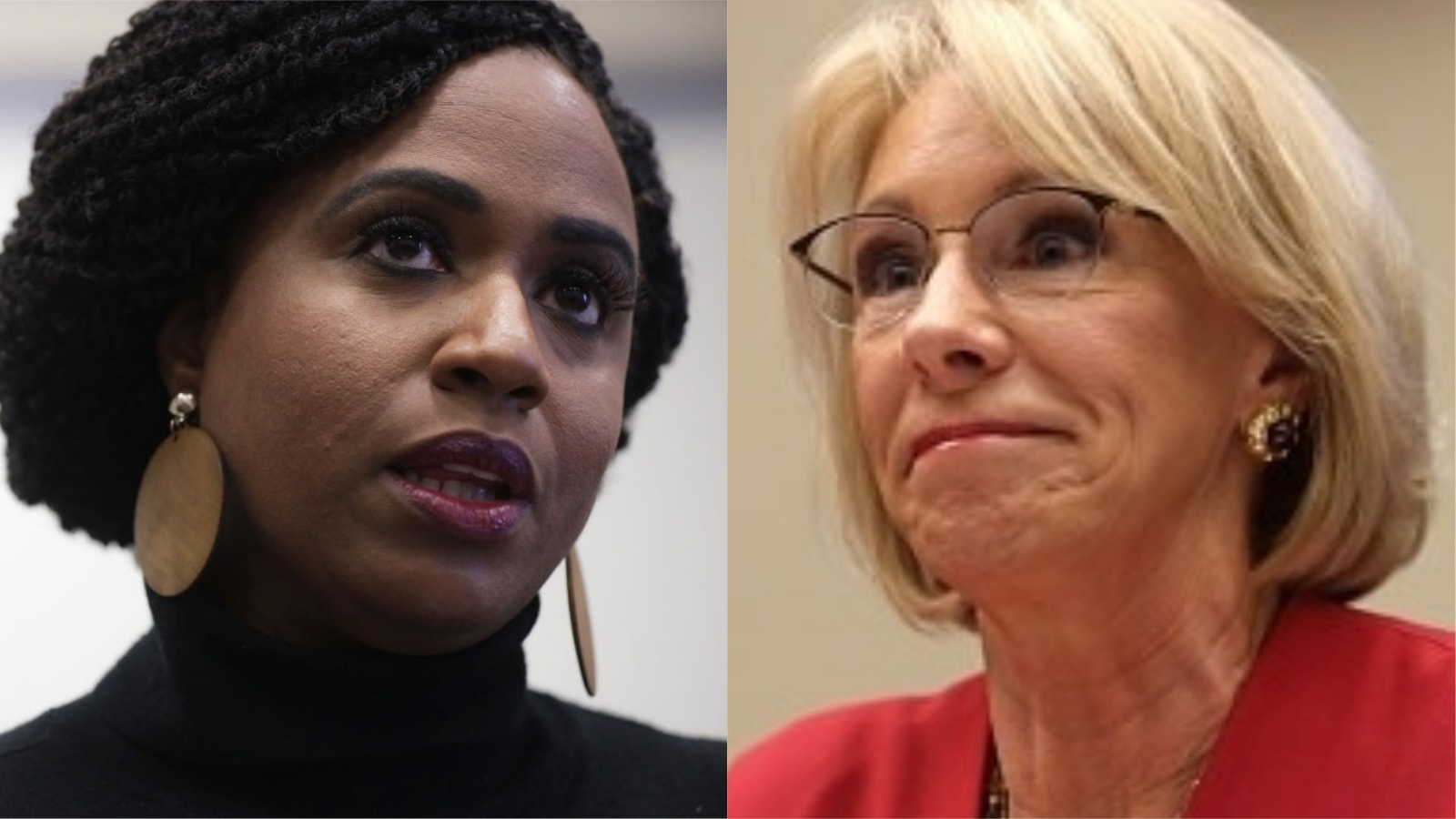 Ayanna Pressley Tells Betsy DeVos To 'Say It To Her Face' After Secretary Of Education Wildly Compares Abortion To Slavery