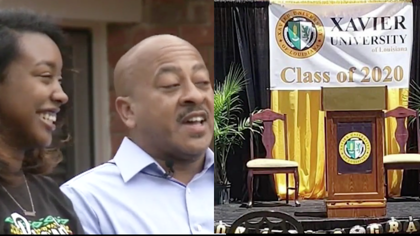 Proud Dad Of HBCU Grad Surprises Her With Graduation Ceremony In Their Driveway