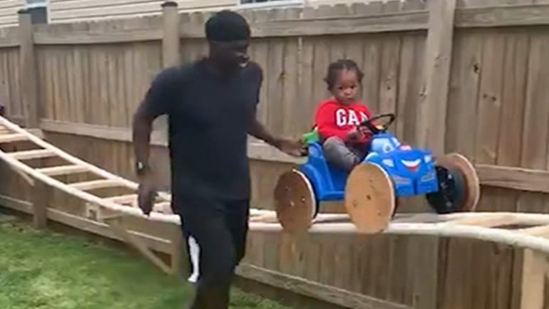 Best Granddad Ever Builds Backyard Roller Coaster For His Grandson During Quarantine
