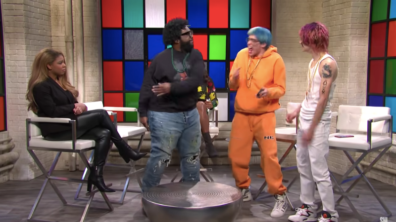 Snl Pokes Fun At Soundcloud Rappers In Comical Skit Featuring Questlove Blavity News Instant sound effect button of yeet. snl pokes fun at soundcloud rappers in