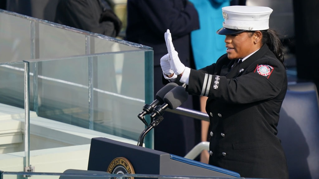 Folks In Awe Of Georgia Fire Captain Who Both Recited And Signed Pledge Of Allegiance During Inauguration