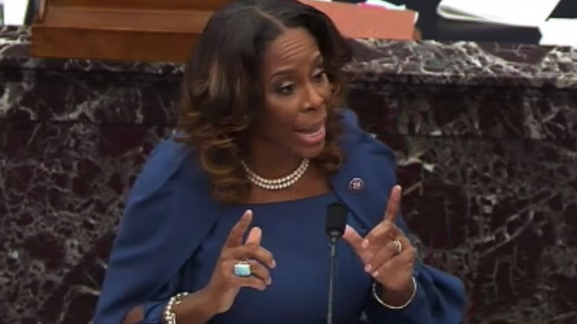 Del. Stacey Plaskett Makes Damning Case Against Trump At Impeachment Hearing: Capitol Insurrections 'Were Following His Orders'
