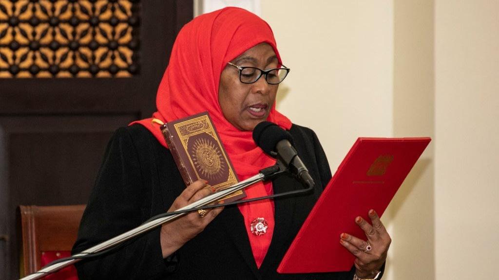 Following Unexpected Death Of John Magufuli, Tanzania Swears In Its First Woman President, Samia Suluhu Hassan