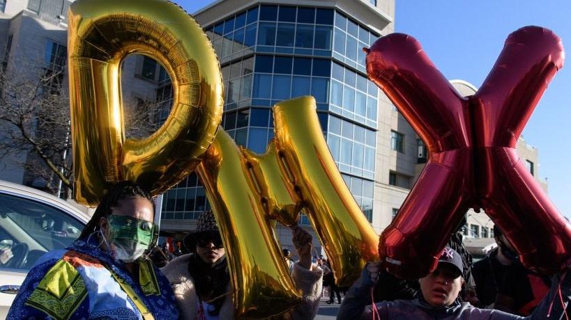 Ruff Ryders Biker Club Holds Vigil For DMX Outside Of New York Hospital