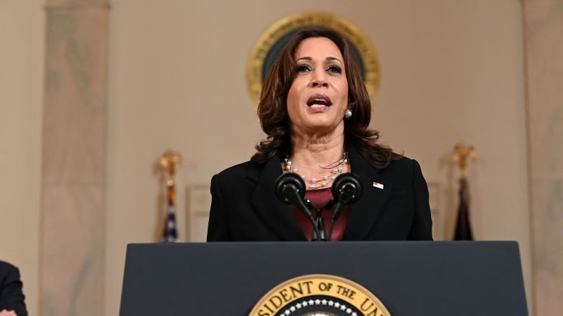Kamala Harris Urges Senate To Pass George Floyd Justice In Policing Act Following Derek Chauvin Conviction