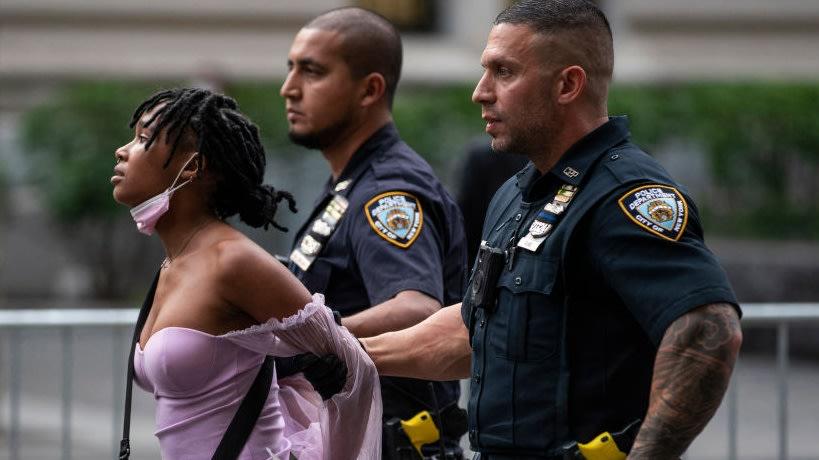Black Lives Matter Protesters Arrested Outside Of Met Gala