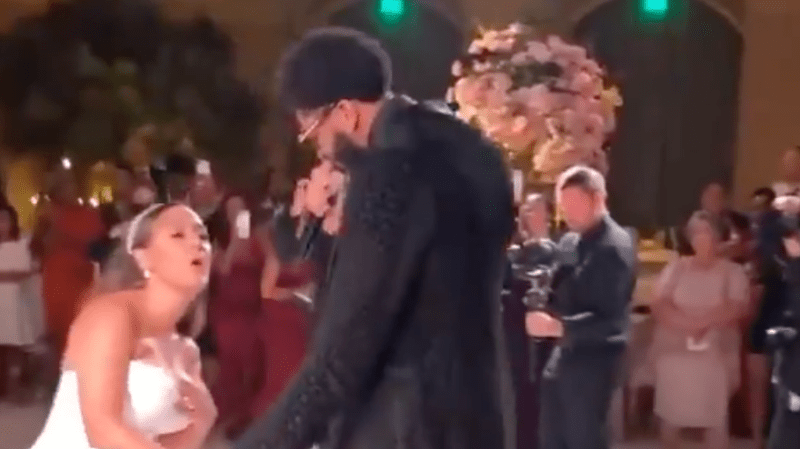 Anthony Davis Serenades His Wife With Dru Hill's 'Never Make A Promise' During Wedding