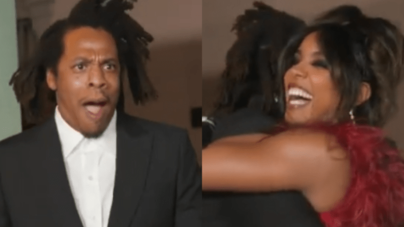 JAY-Z's Shock Upon Seeing Kelly Rowland At His Movie Premiere Is Just Too Pure