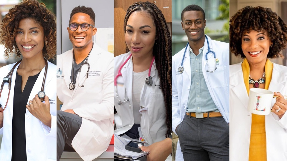 Dr. Krista Marie, Dr. Cedric Rutland, Dr. Eva Beaulieu, Dr. Jason Campbell and Dr. Lauren Powell