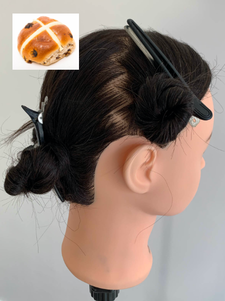 The hot cross bun technique… image