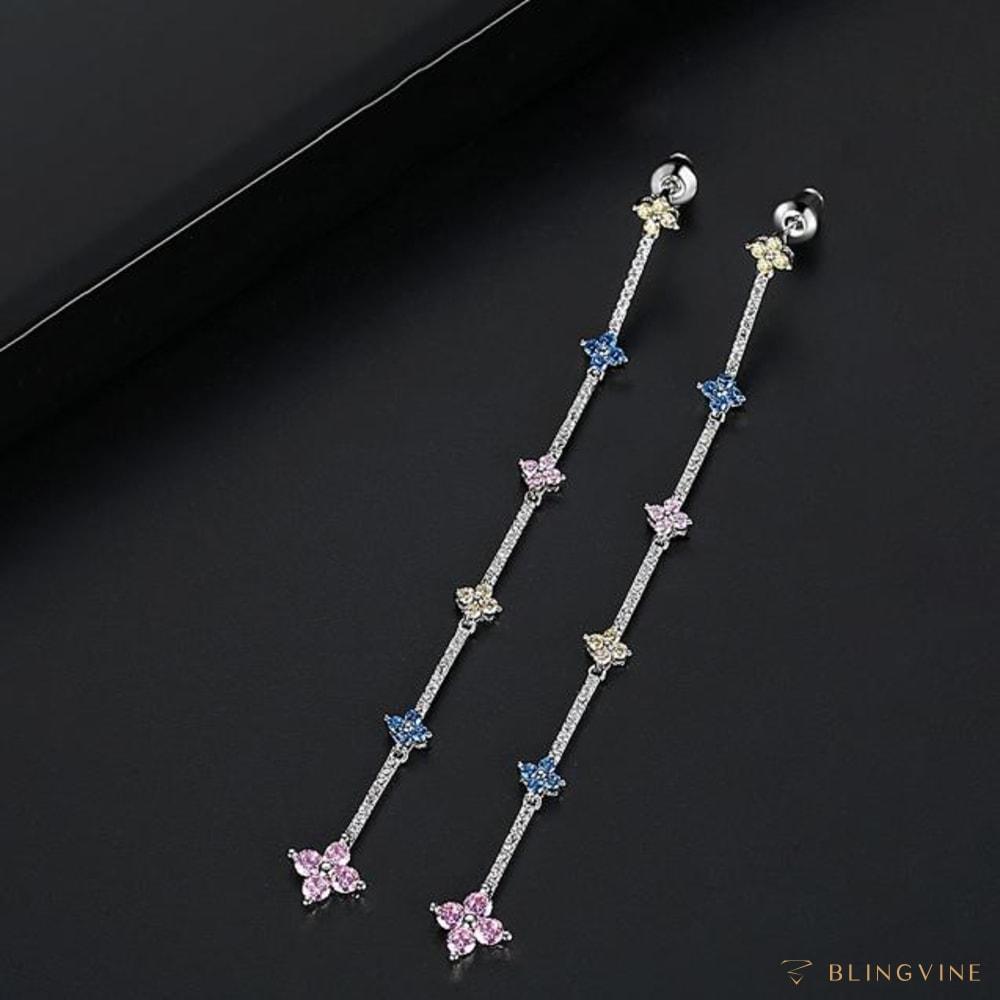 Trisha Long Earrings - Blingvine