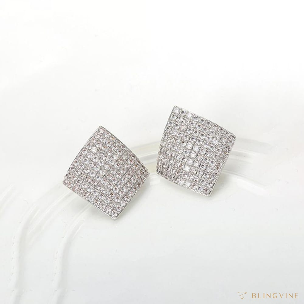 Savvya Geometrical Stud Earrings - Blingvine