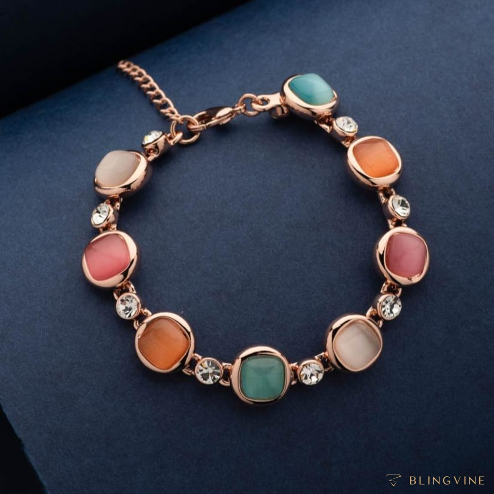 ColorPlay Multi Coloured Stone Bracelet - Blingvine
