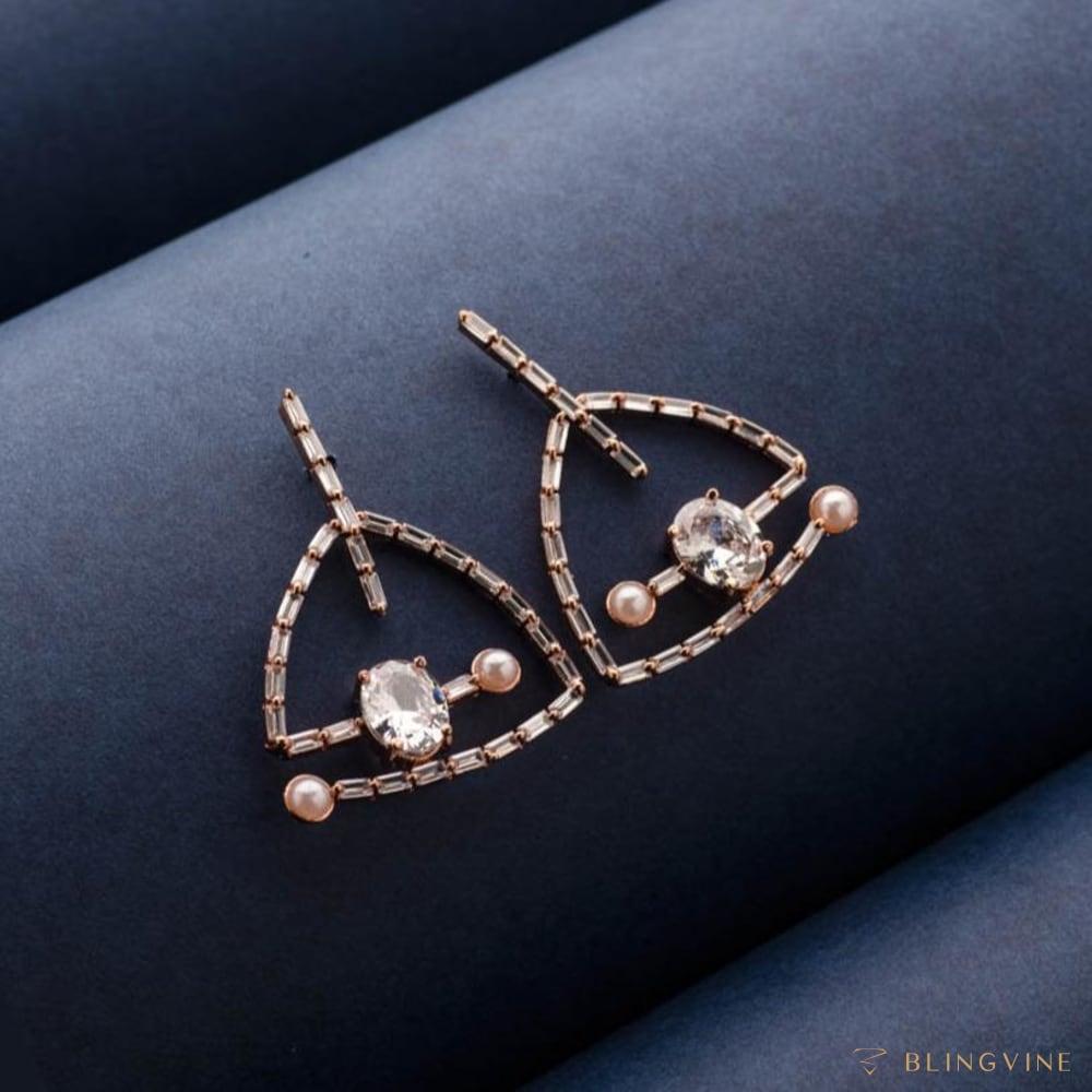 Leis Luxury Crystal Stud Earrings - Blingvine