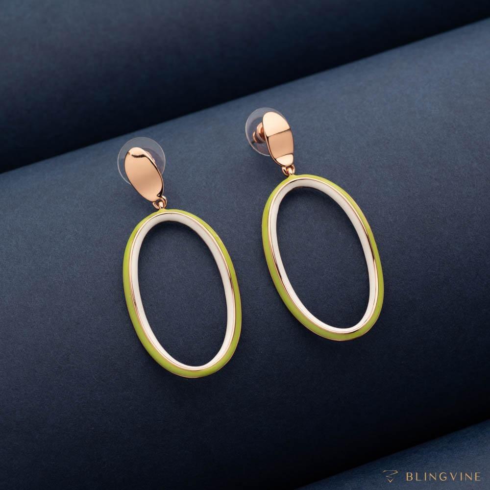 Loop of Life Dangler Earrings - Blingvine Jewelllery