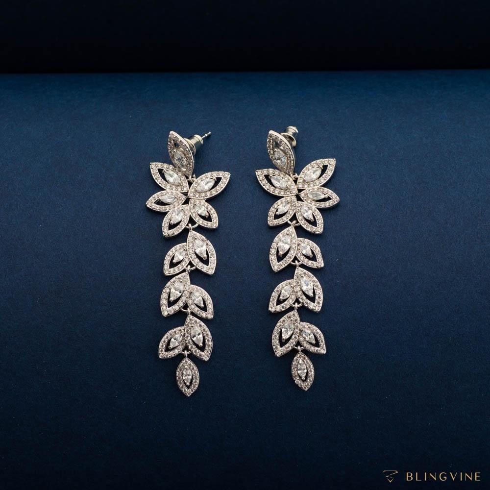 Jeenal Crystal Long Earrings - Blingvine Jewellery
