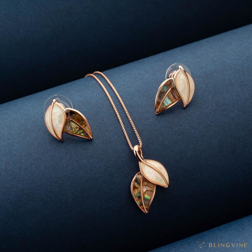Sylvia Minimal Pendant Necklace set - Blingvine Jewellery