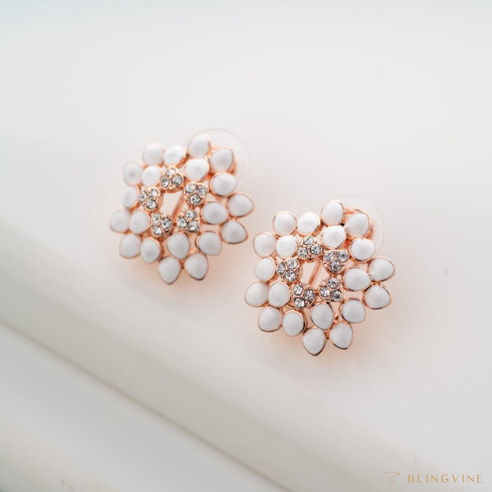 Dahlia Floral Stud Earrings