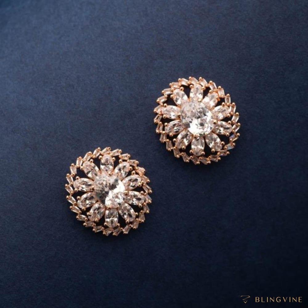 Amoli American Diamond Stud Earrings - Blingvine